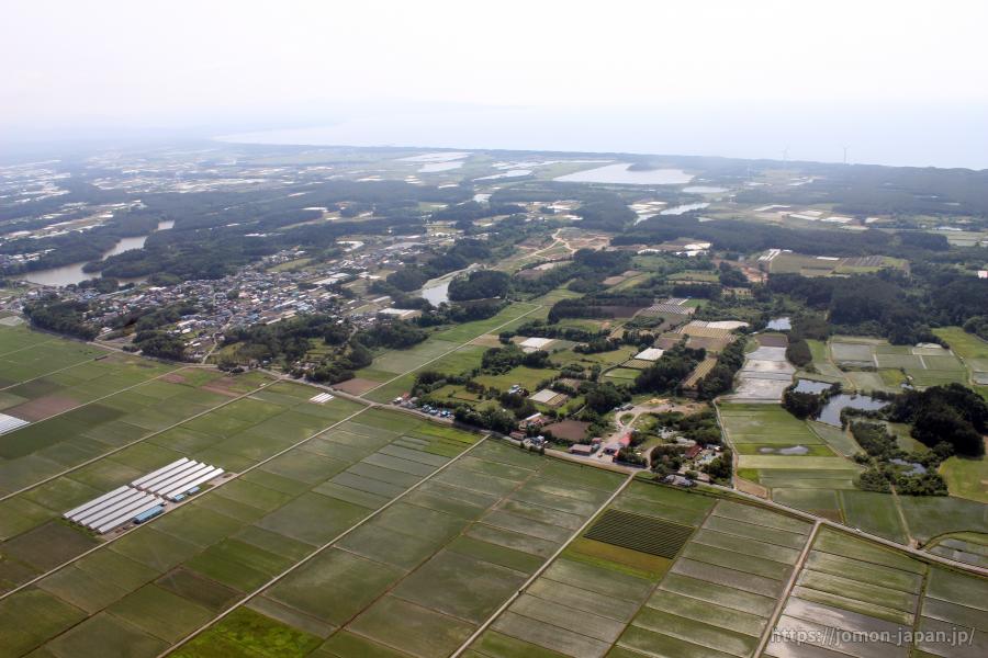 田小屋野貝塚・亀ヶ岡石器時代遺跡 遠景