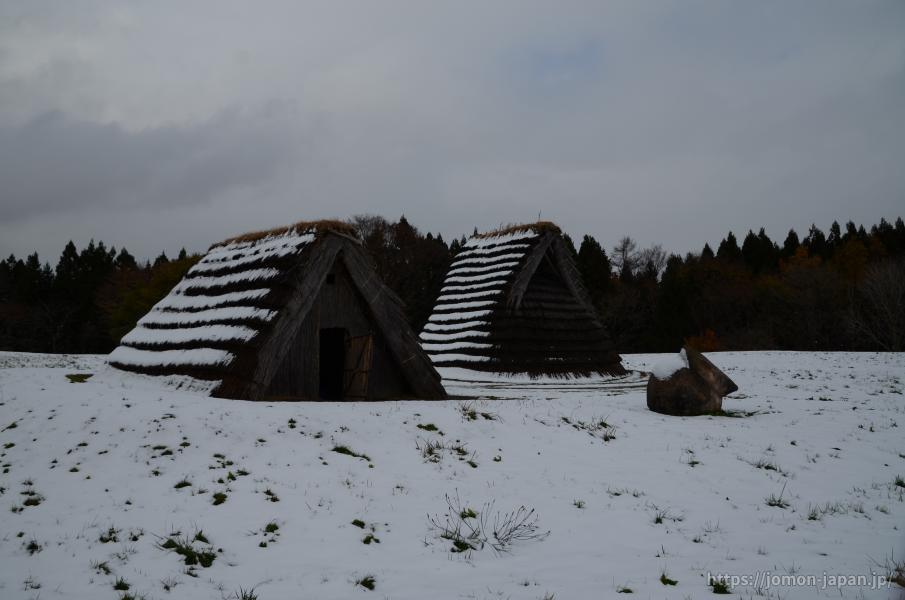 二ツ森貝塚 冬の風景