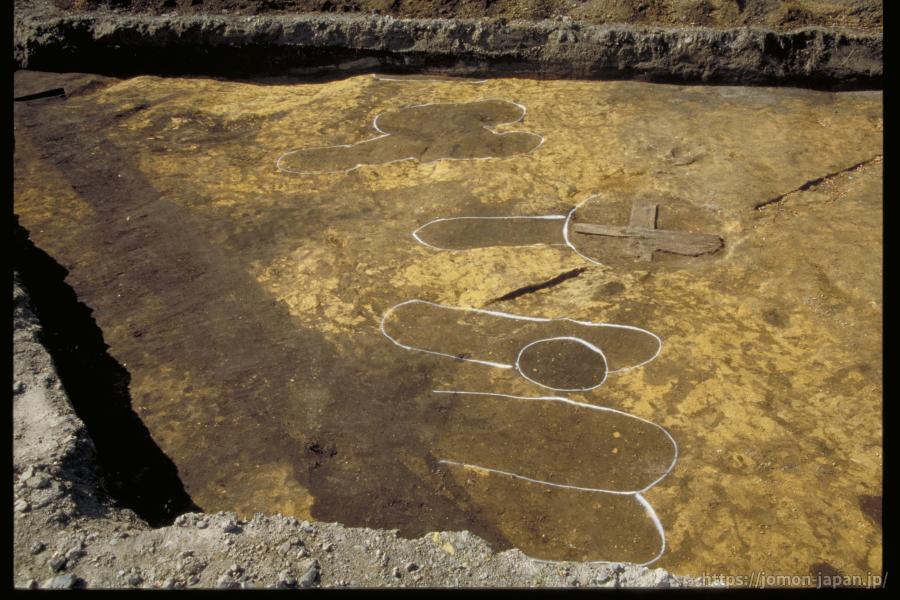 三内丸山遺跡 列状の土坑墓