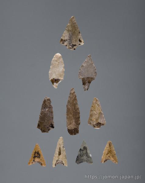 三内丸山遺跡 アスファルト付着石鏃