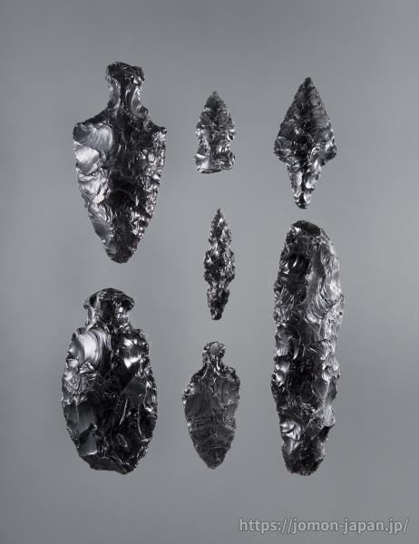 三内丸山遺跡 北海道産黒曜石製石器