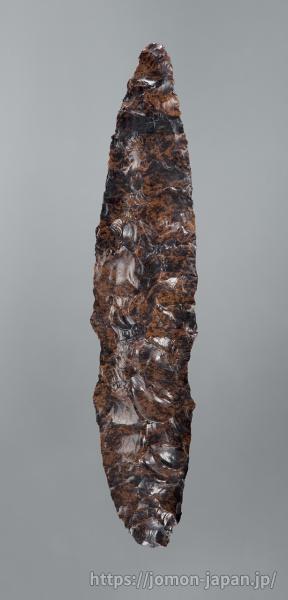 三内丸山遺跡 北海道白滝産黒曜石製の石槍