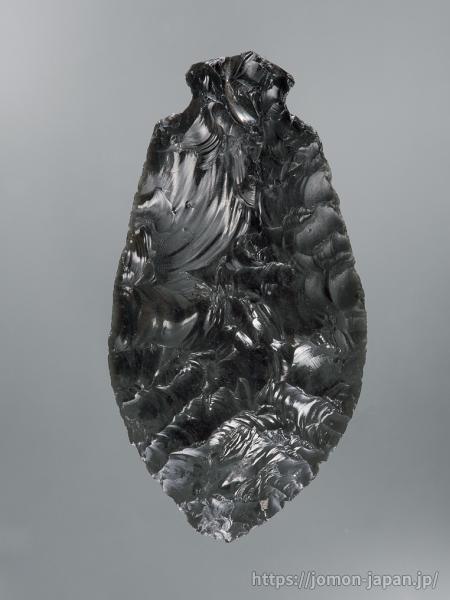 三内丸山遺跡 北海道白滝産黒曜石製の石匙