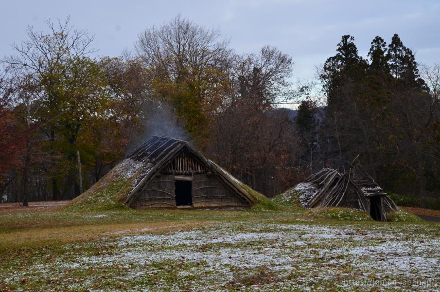 御所野遺跡 初冬の風景