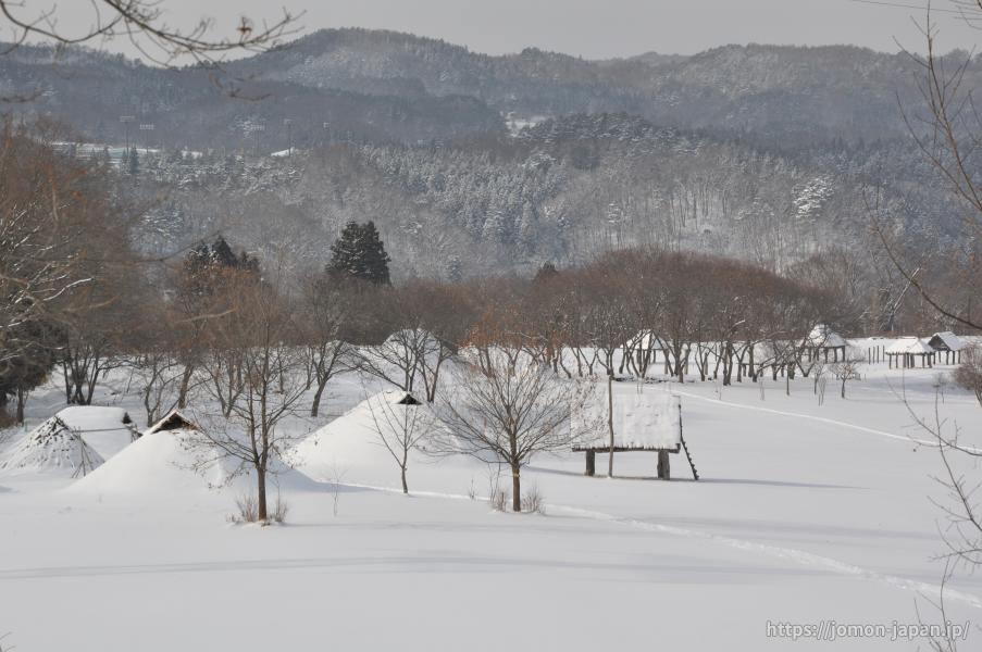 御所野遺跡 冬の風景