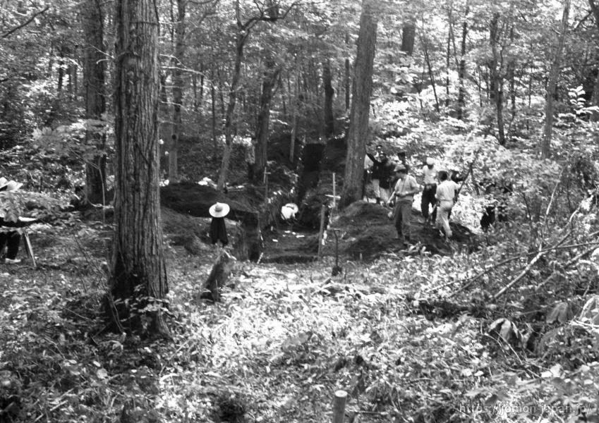 キウス周堤墓群 発掘調査状況(キウス1号周堤墓)