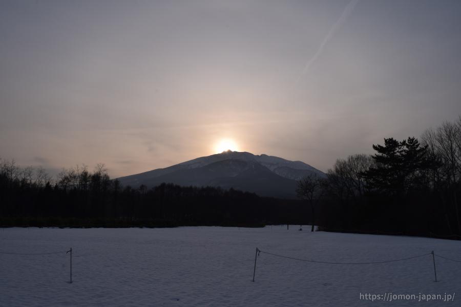 大森勝山遺跡 冬至の日没