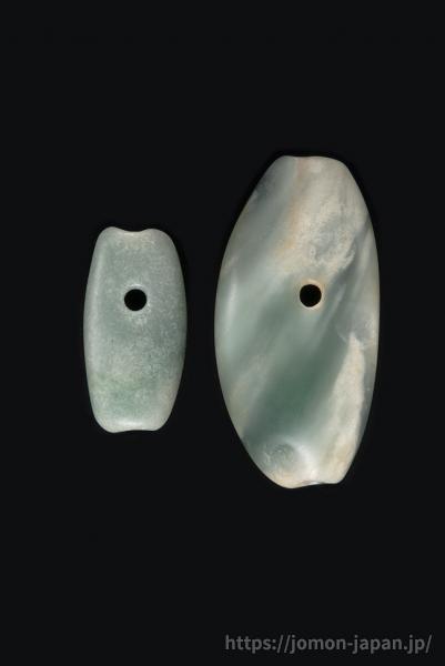 上尾駮(2)遺跡 ヒスイ製大珠
