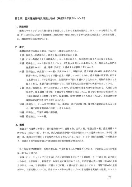 田小屋野貝塚総括報告書(2/5)