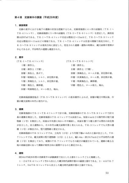 田小屋野貝塚総括報告書(3/5)