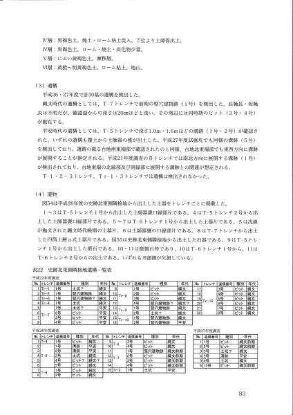 田小屋野貝塚総括報告書(4/5)