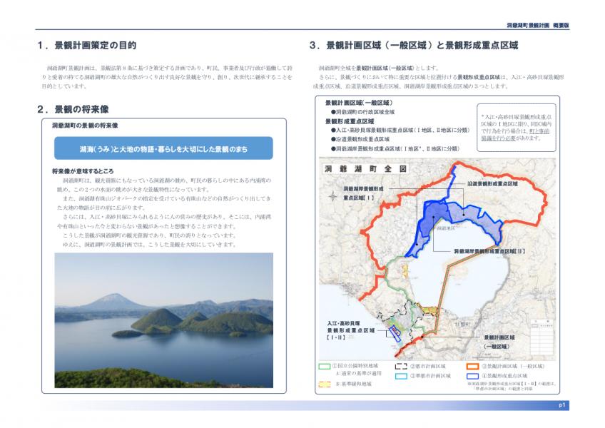 洞爺湖町景観計画(概要版)