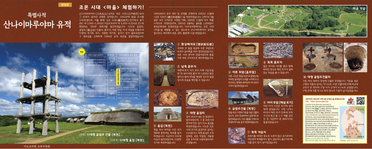 リーフレット「特別史跡 三内丸山遺跡」(韓国語)