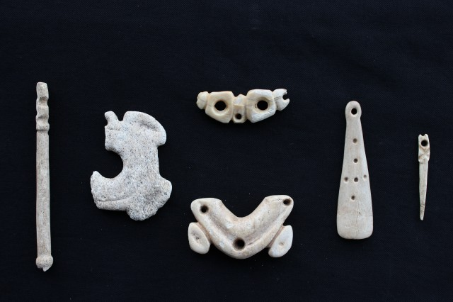 Bone and antler objects (ornaments)