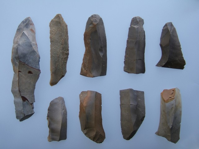 Stone blades excavated from the Odai-Yamamoto Site