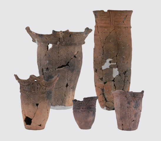 Pottery from the Early to Middle Jomon periods