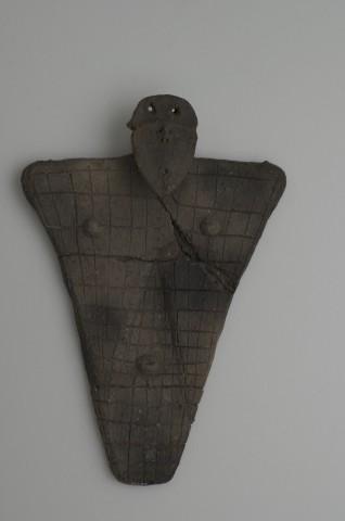 Flat clay figure