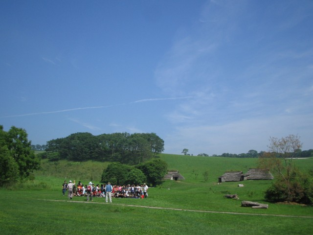 Scenery of the Kitakogane Shell Midden (including people) ①