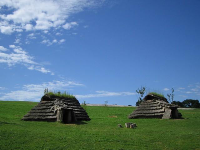 Restored pit dwellings