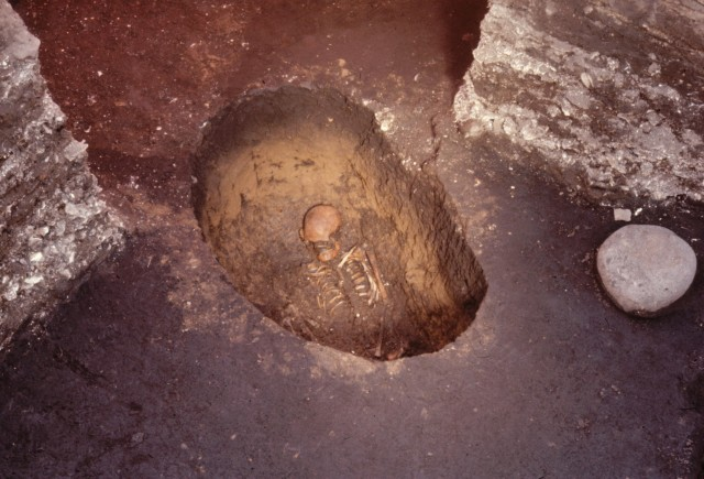 Grave from the Early Jomon period