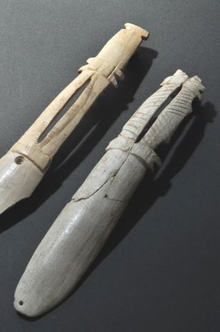 Spoon-shaped ritual tools