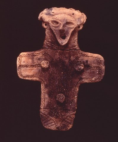 Large flat clay figure (important cultural property)