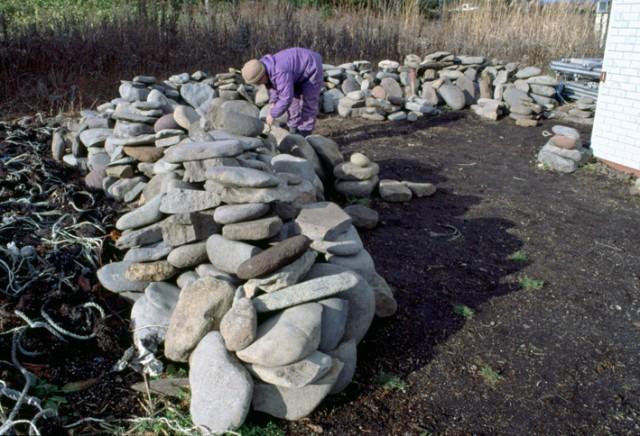 Excavated stone plates, Ofune Site