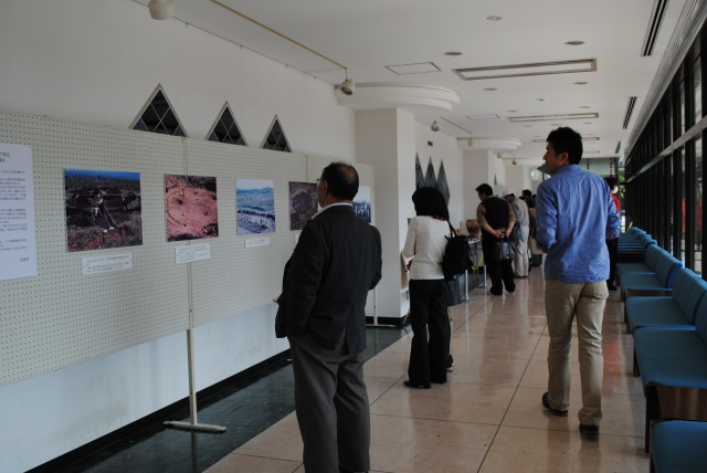 Panel exhibition at a lecture to commemorate the designation as a historic site
