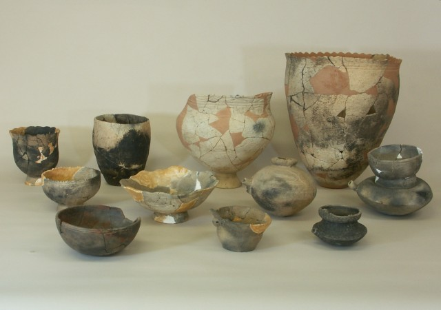 Excavated pottery