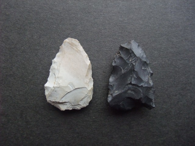 Stone arrowheads excavated from the Odai-Yamamoto Site