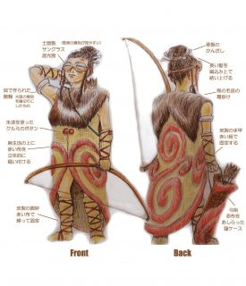 縄文の月の女神デザイン