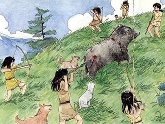 「マンモス 狩猟時代」の画像検索結果
