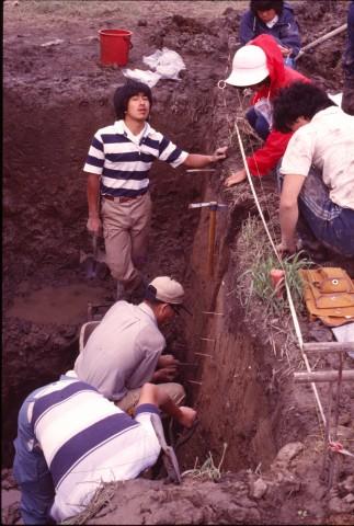 低湿地の古環境調査