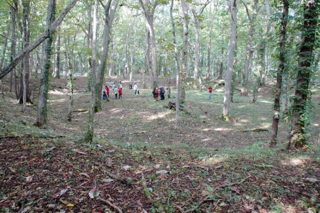 1号周堤墓近景(2012年10月)