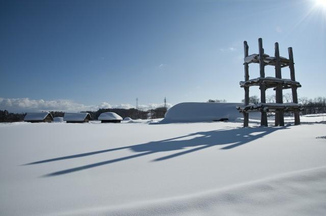 三内丸山遺跡の冬