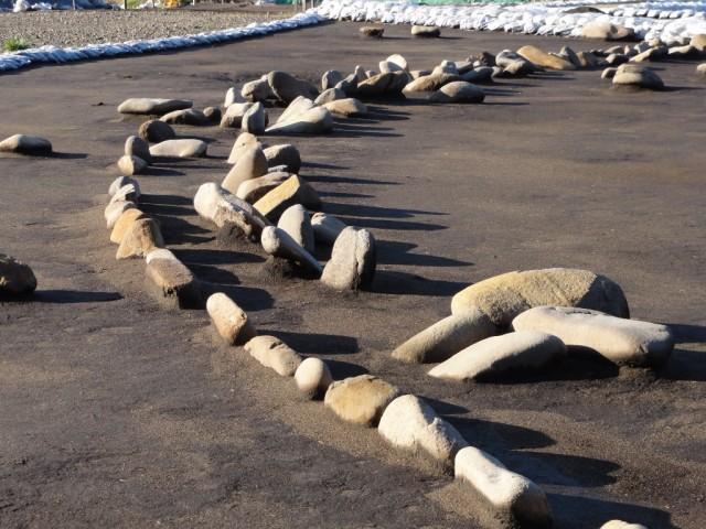 環状列石配石状況