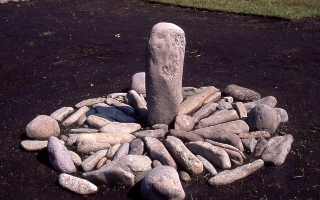 日時計状組石