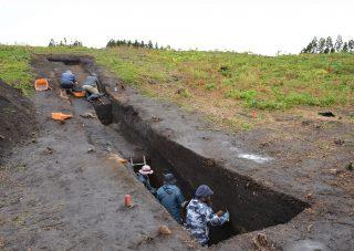 垣ノ島遺跡盛土遺構の現況